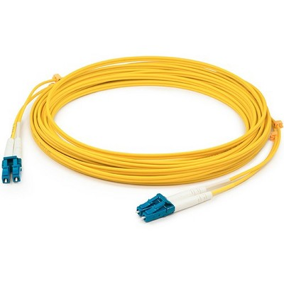 1m LC (Male) to LC (Male) Straight Yellow OS2 Duplex Fiber OFNR (Riser-Rated) Patch Cable - Fiber Optic for Network Device - 1m - 2 x LC Male Network