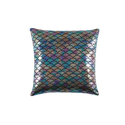 """18"""" Mermaid Ombre Square Decorative Pillow - Material Girl"""