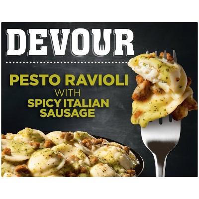 Devour Frozen Pesto Ravioli with Spicy Italian Sausage - 12oz