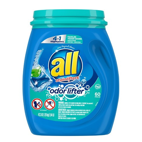 all Mighty 4-in-1 With Odor Lifter Unit Laundry Detergent Pacs - 60ct - image 1 of 4