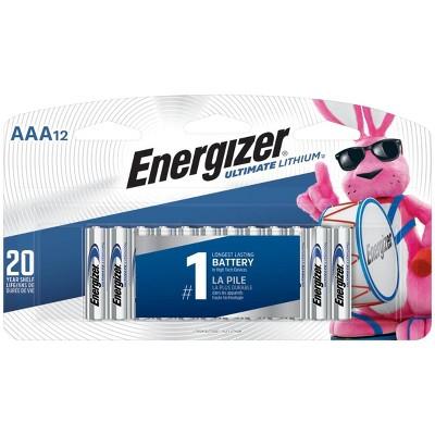 Energizer Ultimate Lithium AAA Batteries 12ct - L92SBP-12