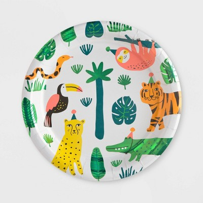 10ct Jungle Print Dinner Paper Plates - Spritz™