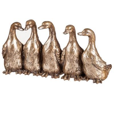 Evergreen Evegreen Garden Bronze Animal Garden Statue - Flock of Ducks Garden Statuary Animal Friends