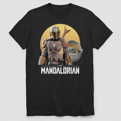 Men's Star Wars The Mandalorian Short Sleeve Graphic Crewneck T-Shirt - Black