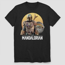 Men's Star Wars The Mandalorian Short Sleeve Graphic T-Shirt - Black