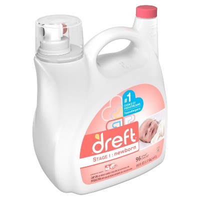 Dreft Stage 1: Newborn HEC Liquid Detergent 150 oz