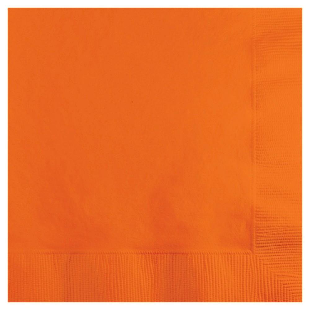 Image of 50ct Sunkissed Orange Disposable Napkins