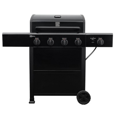 Kenmore 4 Burner Open Cart Grill with Side Burner PG-40406S0L-1 Stainless Steel and Black