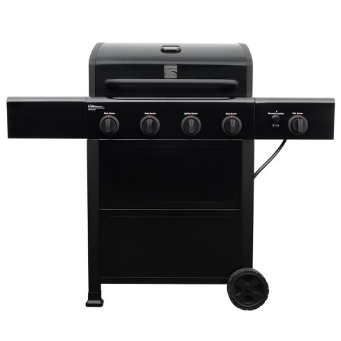 Kenmore 4 Burner Open Cart Grill with Side Burner PG-40406S0L-1 Stainless Steel and Black - image 1 of 4