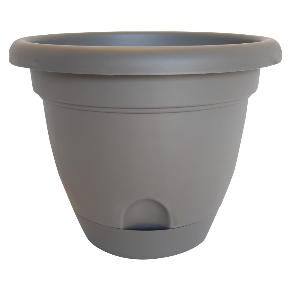 Image of 10 Lucca Self Watering Planter - Peppercorn - Bloem