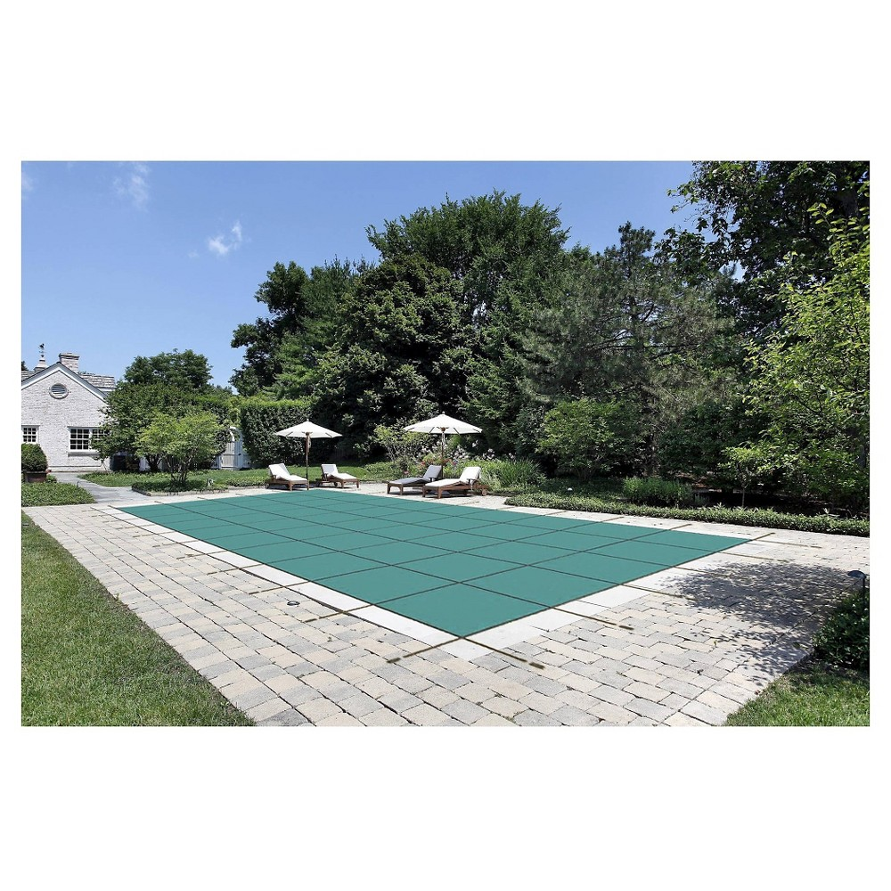 WaterWarden Safety Pool Cover for 30' x 50' In Ground Pool - Green Mesh