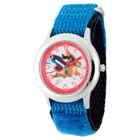 Boys' Disney Elena of Avalor Stainless Steel Time Teacher Watch - Blue - image 1 of 2