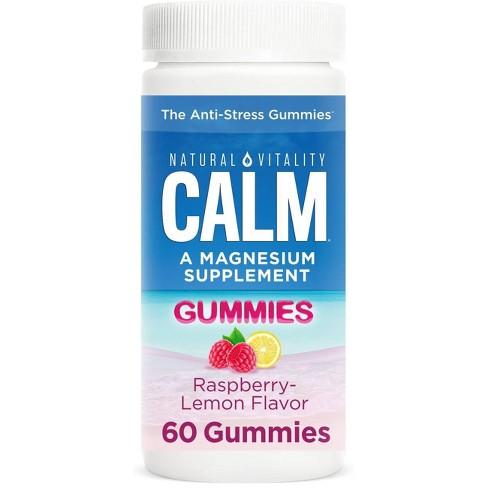 Natural Vitality Natural Calm Gummies - Raspberry Lemon - 60ct - image 1 of 4