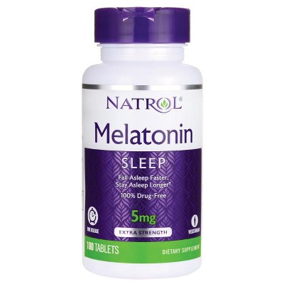 Natrol Dietary Supplements Melatonin Time Release 5 mg Tablet 100ct
