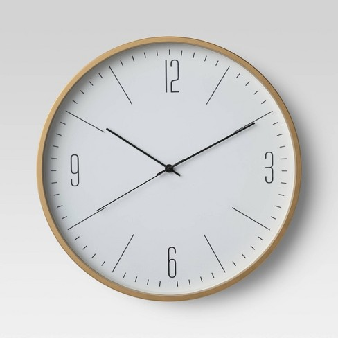 """20"""" Brushed Brass Wall Clock - Project 62™ - image 1 of 3"""