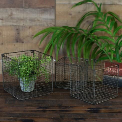 Metal Wall Basket Set Black 3pk - VIP Home & Garden - image 1 of 1