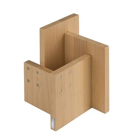 Arte Legno Kombi Beechwood 8 Position Wooden Magnetic Knife Block Utensil Holder - image 1 of 2