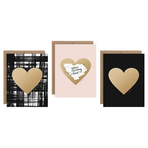 3ct Hearts Shaped Scratch-off Greeting Cards - image 1 of 1