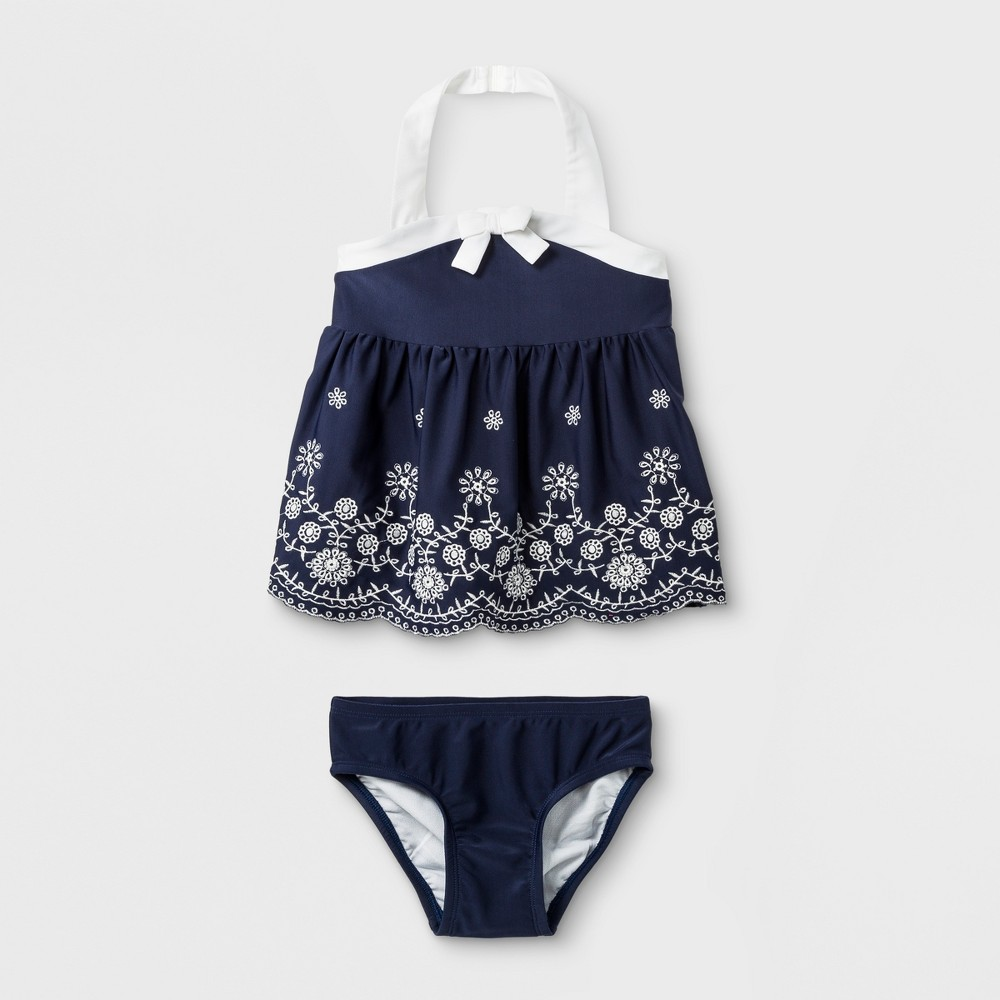 Toddler Girls' 2pc Tankini - Cat & Jack Navy 3T, Blue