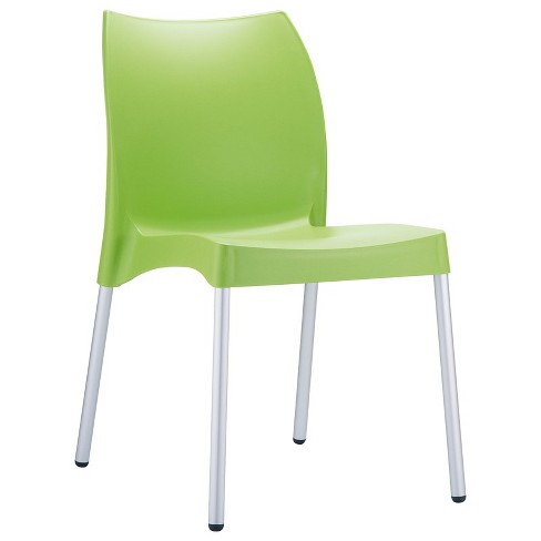 Vita Resin Outdoor Patio Dining Chair in Apple Green - Set of 2 - Compamia - image 1 of 3