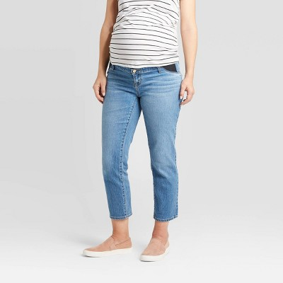 Inset Panel Straight Maternity Jeans - Isabel Maternity by Ingrid & Isabel™ Blue