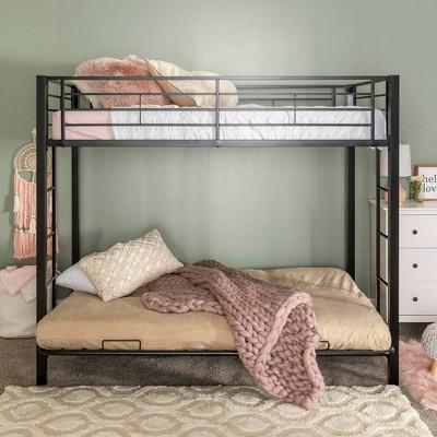 Twin Over Futon Analise Metal Bunk Bed - Saracina Home
