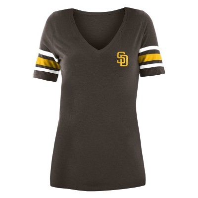 MLB San Diego Padres Women's Pitch Count V-Neck T-Shirt