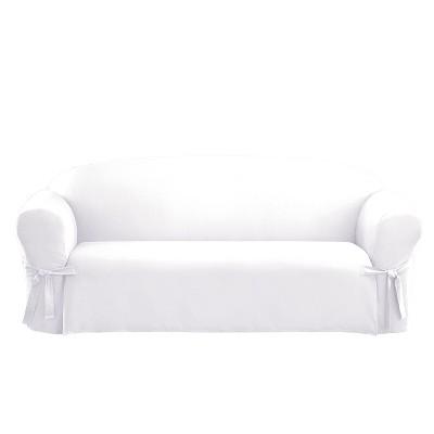 Cotton Sailcloth Duck Sofa Slipcover - Sure Fit
