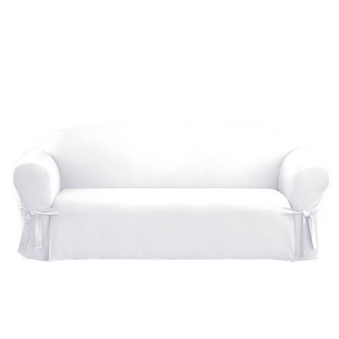 Cotton Duck Sofa Slipcover White Sure