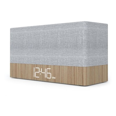 Ci320 Simple Stack Bluetooth Speaker with Clock - Wood - Capello