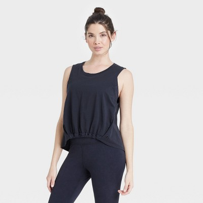 Women's High-Low Tank Top with Front Cinched Hem - JoyLab™