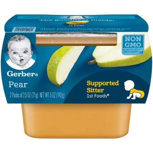 Gerber 1st Foods Pear Baby Food - 2.5oz (2ct) - image 1 of 4
