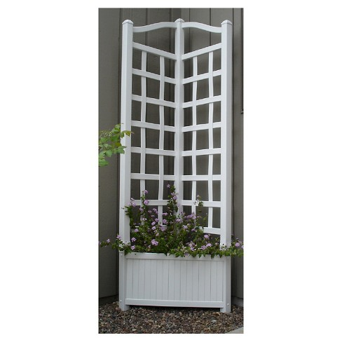 "80"" Oxford PlanterB1089:B1102 Trellis - White - Dura-Trel - image 1 of 1"