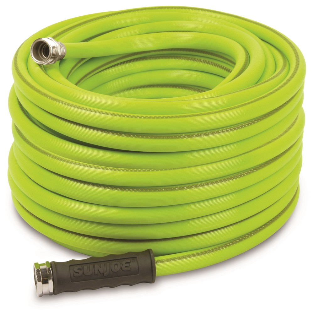 Sun Joe 1/2 Heavy Duty Garden Hose - 75' - Green