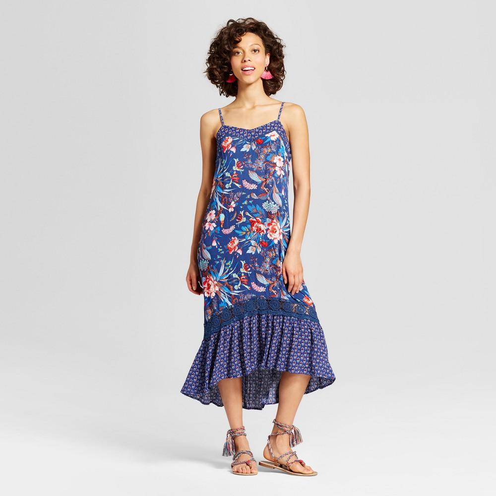Women's Hi-Low Midi Dress - Xhilaration (Juniors') Navy (Blue) Xxl