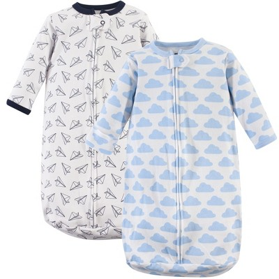 Hudson Baby Infant Boy Cotton Long-Sleeve Wearable Sleeping Bag, Sack, Blanket, Paper Airplane