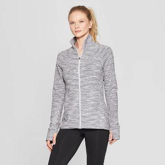Women's Kit Track Jackets - C9 Champion® Gray Spacedye Print S