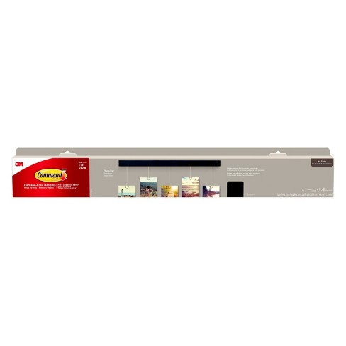 Command™ Photo Bar, 1 Bar, 5 Wires, 2 Sets of Medium Picture Hanging Strips/Pack - image 1 of 5