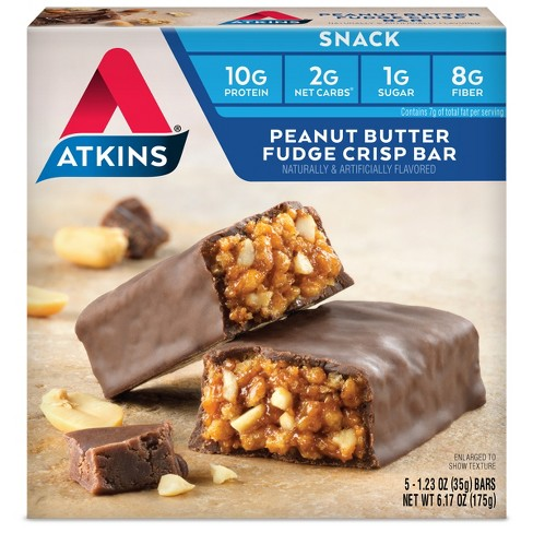 Atkins Snack Bar - Peanut Butter Fudge Crisp - 5ct - image 1 of 1