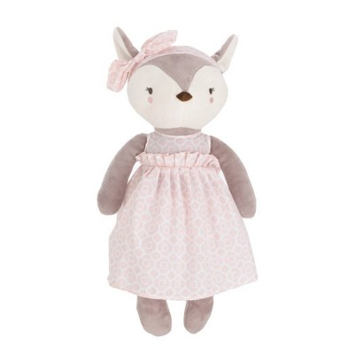 NoJo Countryside Floral Plush Deer Toy - Gray/Ivory/Pink