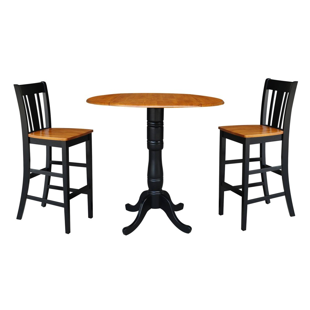Terrific 415 Round Pedestal Bar Height Table With 2 Bar Height Stools Cjindustries Chair Design For Home Cjindustriesco