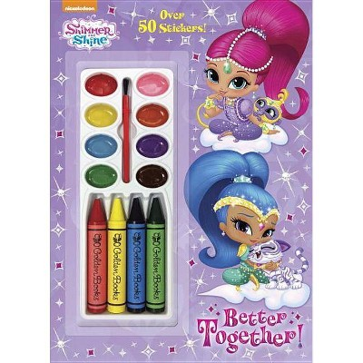 Better Together! (Shimmer and Shine) - (Color and Paint Plus Stickers) by  Rachel Chlebowski (Mixed Media Product)