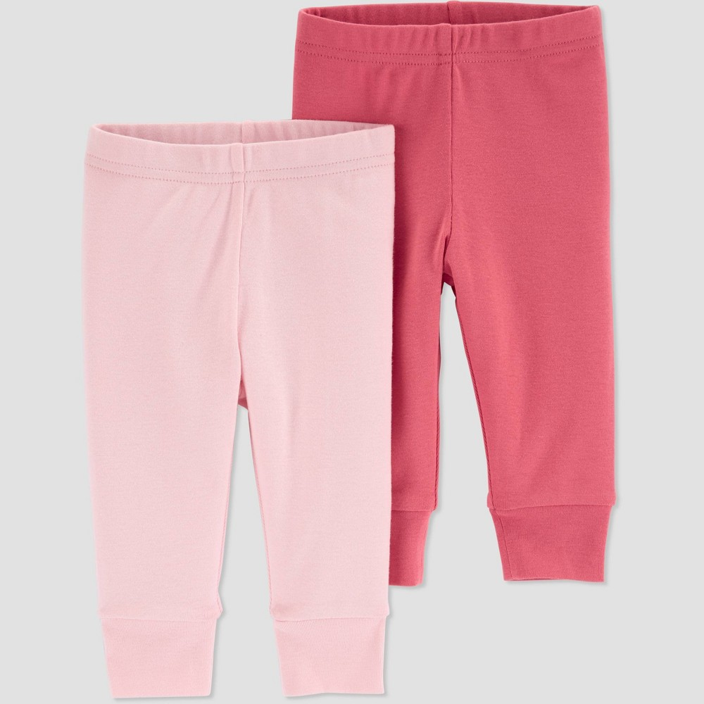 Baby Girls 39 2pk Pull On Pants Just One You 174 Made By Carter 39 S Pink 12m