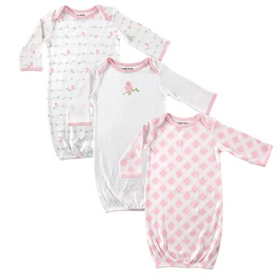 Luvable Friends Baby Girl Cotton Gowns, Bird, 0-6 Months