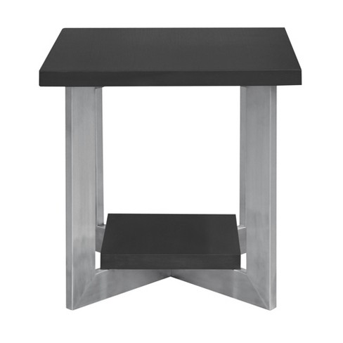 Armen Living Vermont Contemporary End Table Gray - image 1 of 2