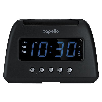 Capello AM/FM Radio Alarm Clock - Black (CR21)