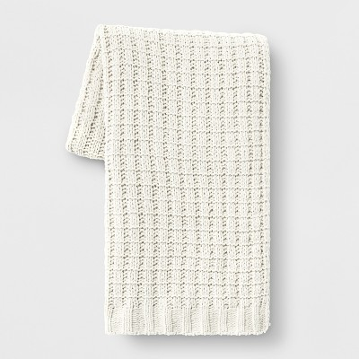 Chenille Throw Blanket Cream - Threshold™