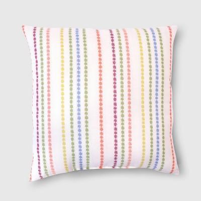 Oversize Square Brunch Stripe Outdoor Pillow - Opalhouse™