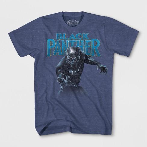 b48582e9 Boys' Marvel Black Panther Short Sleeve T-Shirt - Denim Heather : Target