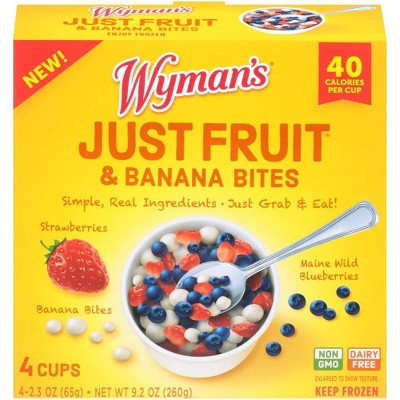 Wyman's Just Fruit Wild Blueberries Strawberries and Banana Bites - 4ct/9.2oz